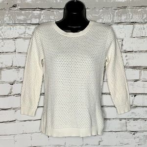 Ted Baker Cashmere Blend Crew Open Knit Sweater